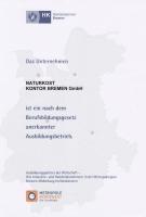 Zertifikat Ausbildungsbetrieb der Handelskammer Bremen